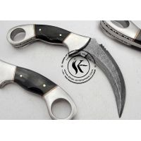 Custom Made Beautiful Damascus Steel Hunting Knife