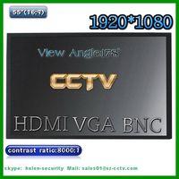 55 inch lcd monitor for cctv surveillance with vga,hdmi,bnc