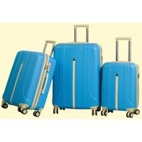 Promotional Business Style 3 PCS Per Set PP Luggage Trolley Spinner Suitcase