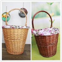Handmade wicker picnic basket storage basket fruit basket