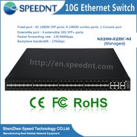 8port to 24 port 10/100/1000M/10G 48 port sfp switch Fiber Optic Network Switches