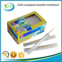 Cello wrapped wooden toothpick for sale