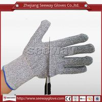 SeeWay B508-5 knitted HDPE fiber liner Cut resistant Gloves Level 5