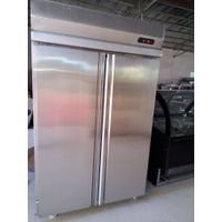 2 Door Vertical Stainless Steel Refrigerator/freezer; double temperature stainless steel Refrigerato