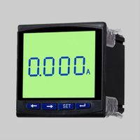 LCD Single phase black case ammeter with analog output, relay output, remote control switch function thumbnail image