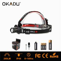 OKADU HQ01 Zoomable Headlamp 18650 Rechargeable Cree Headlamp DC Charge LED Headlamp