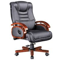 2015 new style excutive chair with wooden arms