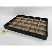 PU Leather Wooden Jewelry Display Tray Pendant Tray