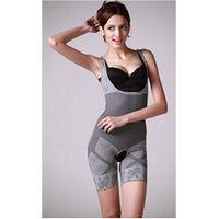 germanium, titanium, silver,platina slimming element Bamboo charcoal fiber shaping jump suit for wom