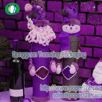 Christmas Decoration Wine Bottle Paper Packaging Tube