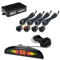 New 4 Sensors System 12v LED Display Indicator Parking Car Reverse Radar Kit