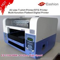 NEW Multi-purpose 8 colors A3 size DTG T-shirt printer /digital flatbed printer/Epson Direct to Garm