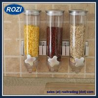 Wall Mount Cereal Dry Food Dispenser Storage Container Canister Portion Control thumbnail image