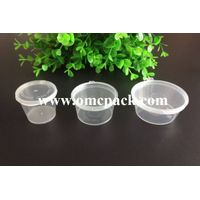 0.5 oz 1oz 1.5oz 3oz pp sauce container with hinged lid