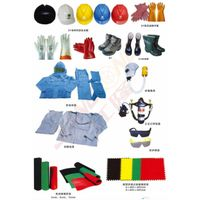 safety helmet boots gloves cloths glasses