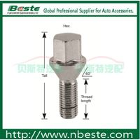 Lug locks m12x1.5 Conical seat lug bolts anodized wheel bolts wheel nut and bolts thumbnail image