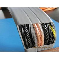 Flat traveling cable with video cable for elevator TVVB