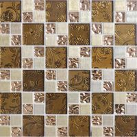 Laminated glass mosai c tile AXH058