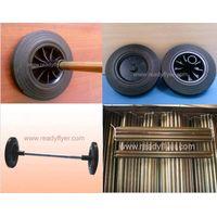 Dustbin wheel/garbage bin rubber wheel/refuse bin wheel/wheelie bin wheel(up to standard of EN840-5) thumbnail image