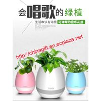 TOKQI K3 4-in-1 Smart Music Flowerpot - Bluetooth Speaker/ LED Night Light