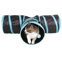 Funny 3 WAY Y Shape Foldable Pet Rabbit Cat Kitten Play Toy Exercise Tunnel Cave