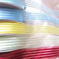boutique satin centered organza ribbon thumbnail image
