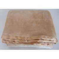Micro fleece blanket with satin border