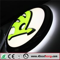 Car logo signs and name, glowing car logo, illuminated LED auto sign