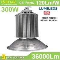 High Bright LED High Bay Light 300W 240W 200W 180W 150W 120W 100W 80W 60W 120Lm/W 5 years warranty