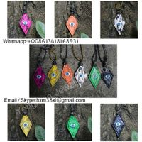 Wholesale arrow shape evil eye snakeskin pendant necklace