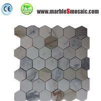 Hexagon Calacatta Gold Marble Mosaic thumbnail image