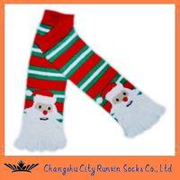 kids christmas five toe  five finger socks