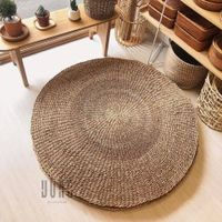 High Quality Round Straw Seagrass Rug in Living room From Vietnam Eco-friendly Natural Fiber Mat thumbnail image