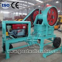 Working parameter of PEC2540 portable diesel jaw crusher