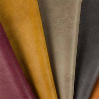 Crazy horse faux PU leather for bags, handbags and small pocket bags