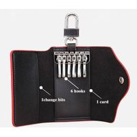 China factory sell genuine leather key wallet case  for men women , key holder, key chain case