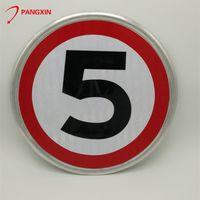 Aluminum reflective circular road traffic warning signs thumbnail image