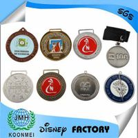 factory custom-made 2D/3D metal sprots medals gold silver bronze medals with ribbon