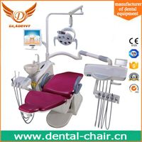 High quality ISO and CE approved leather cushion dental chair with LED sensor light thumbnail image