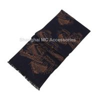 MC-0049, 100% Silk Brushed Scarf, Chinese Style