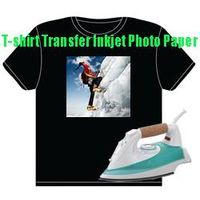 T-shirt heat transfer inkjet photo paper for dark color fabrics