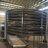 Automated Spiral Refrigerator Belt Conveyor Cooling Bread Machine Automation
