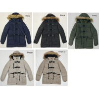 Stock lot men'S Padded Jacket with detachable hood manufacture&supplier thumbnail image