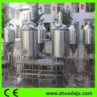 High processing precision brewery equipment for sale range from 50L to 5000L in Jinan Zhuoda