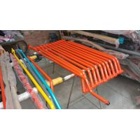 Steel oil pipe for excavator booms