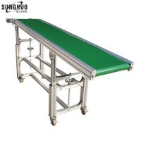 OEM small dirt timing separator band inclined screw mining stainless steel belt conveyor price