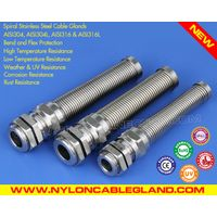IP68 Rating Spiral Stainless Steel Cable Glands Cord Grips (AISI304 / AISI316 / AISI316L)
