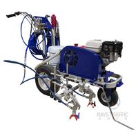 Hydraulic Cold Paint Road Marking Machine Double Gun