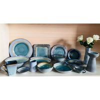 Kitchen ceramic tableware reactive glaze stoneware dinnerware set 4pcs