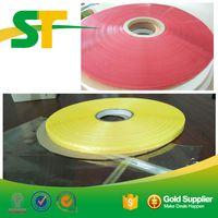 Red yellow resealable PE bag sealing tape